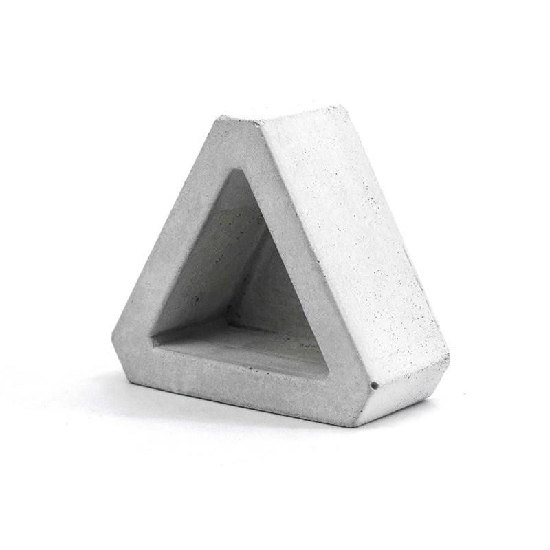 Triangular Silicone Concrete Mold Cement Flowerpot  Mould For Succulent Plants
