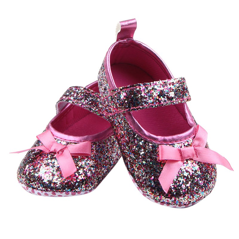 Lovely Baby Girl Shoes Sequins Non-slip Soft Sole Shoes Sneakers First Walkers france tigergrip waterproof work safety shoes woman and man soft sole rubber kitchen sea food shop non slip chef shoes cover