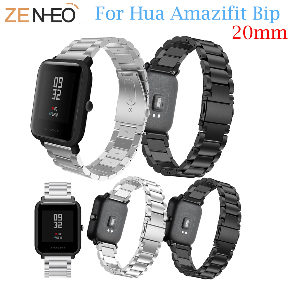 For Huami Amazfit BIT Straps Metal Stainless Steel Replacement Strap Bracelet For Huami Amazfit Bip BIT PACE Lite Youth watch mijobs for xiaomi huami amazfit bit strap metal stainless steel bracelet replacement huami amazfit bip bit pace lite youth watch
