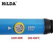 HILDA 220V/110V 60W Adjustable Temperature Electric Soldering Iron US&EU Plug