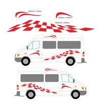 2M 2x Dynamic Pattern Croatia Eagle Totem Motorhome Vinyl Decals Set Camper Van RV Caravan Horsebox