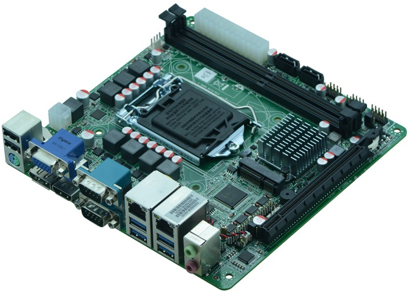mini itx H110 LGA1151 Core I3-6100 CPU mini ITX motherboard with DDR4, 4K DP port H110 Industrial embedded motherboard mini itx motherboard with ops interface for digital signage