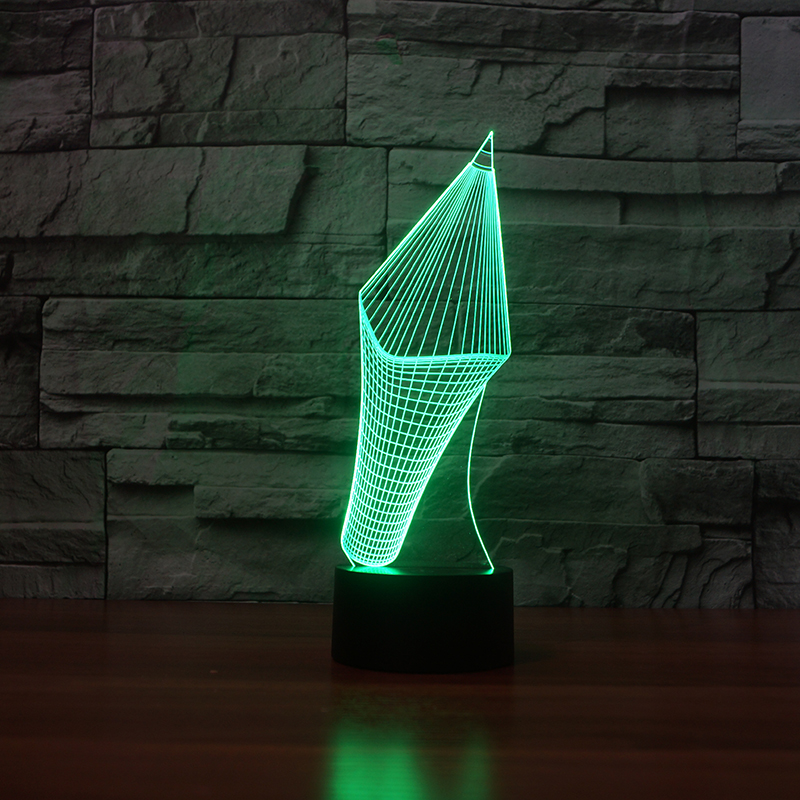 Night Lights Creative 7 Colors Changing 3d Visual Pencil Model Table Lamp Led Novelty Night Light Pen Shape Study Room Home Decor Kids Gifts