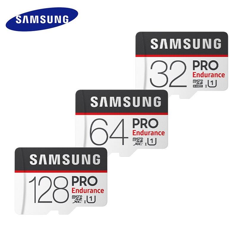 Samsung microsd 32g 64g 128g cartão de memória pro sdhc/sdxc tf cartões com adaptador até 100 mb/s endurance mapa