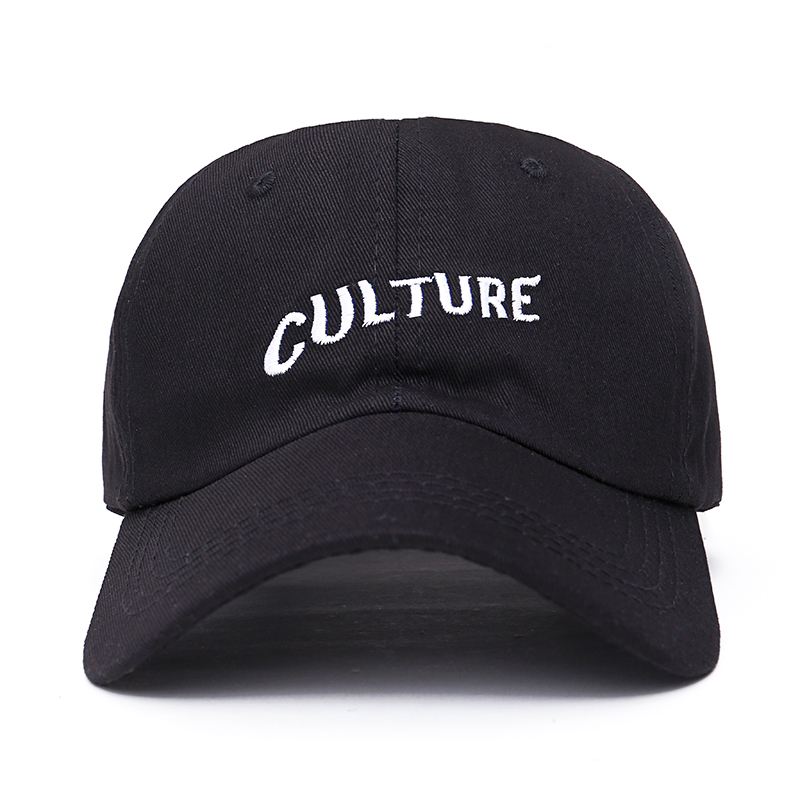 2017 new Migos Culture Hat - Black Dad Cap Hip hop Rap Album Bad And Boujee men women baseball cap fashion Hip hop crocker nature and culture