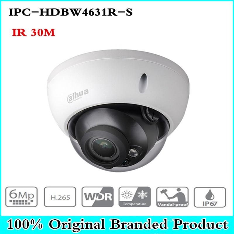 Original POE Camera IPC-HDBW4631R-S 4MP IP Camera upgrade from IPC-HDBW4421R Support IK10 IP67 Waterproof with POE SD Card slot original dahua 4mp ipc hdbw4421r as ip network camera support poe