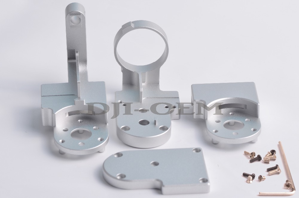 4pcs set DJI Phantom 3  Gimbal Yaw Arm Replacement for P3S Standard  DIY kit HRC55 Aerometal  CNC Mill Aluminum Parts yaw arm ribbon cable kit gimbal repair for dji phantom 3 repair accessories