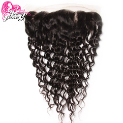 Beauty Forever Brazilian Deep Wave Lace Frontal Ear to Ear Free Part 13*4 Remy Human Hair 10-20inch Free Shipping