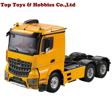 цена на 1/14 remote control trailer head milky color  RC 3 Speed Tiaxial TRAILER Hauler Assembly Car For 1:14 RC Tractor Truck