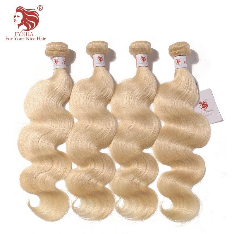 [FYNHA] бразильской волне тела утки волос 60 # блондинка белых волос 4bundles волнистые человеческих волос