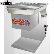 XEOLEO Commercial Meat slicer 2.5/3/4/5/6/8mm Meat cutter Desktop meat Cut machine 250KG/h Stainless steel Slice machine 550W