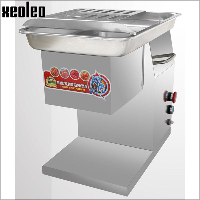 XEOLEO Commercial Meat slicer Electric Meat cutter Stainless steel Slice machine Meat cut machine 2.5/3/4/5/6/8mm 250KG/h 550W