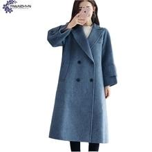 TNLNZHYN winter Women clothing Woolen cloth coat New Fashion Leisure loose Big yards high-end Ladies long Woolen Outerwear QQ626