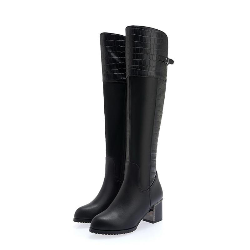 Bottes Campus Smeeroon Noir Glissière Pointu Haute Le Sur Garder Cuisse Bal 2018 Chaussures Genou De Chaud Femmes Pour Hiver Latérale Bout Au 3qcLA54Rj