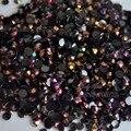 1000 unids 3mm SS12 AB Jalea Leche Color Rhinestone de la Resina acrílico Flatback DIY Decoración Del Arte Del Clavo Granos de Oro Rosa AB J15