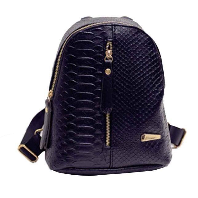 Mode PU läder ryggsäck flicka rese packar dubbla axel dragkedja ... 4c539511162eb