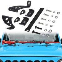 Chuang Qian Hi Lift Jack Mount Hood Hinge Door Hinge Bracket Kit for 2007 2019 Jeep Wrangler JK JL