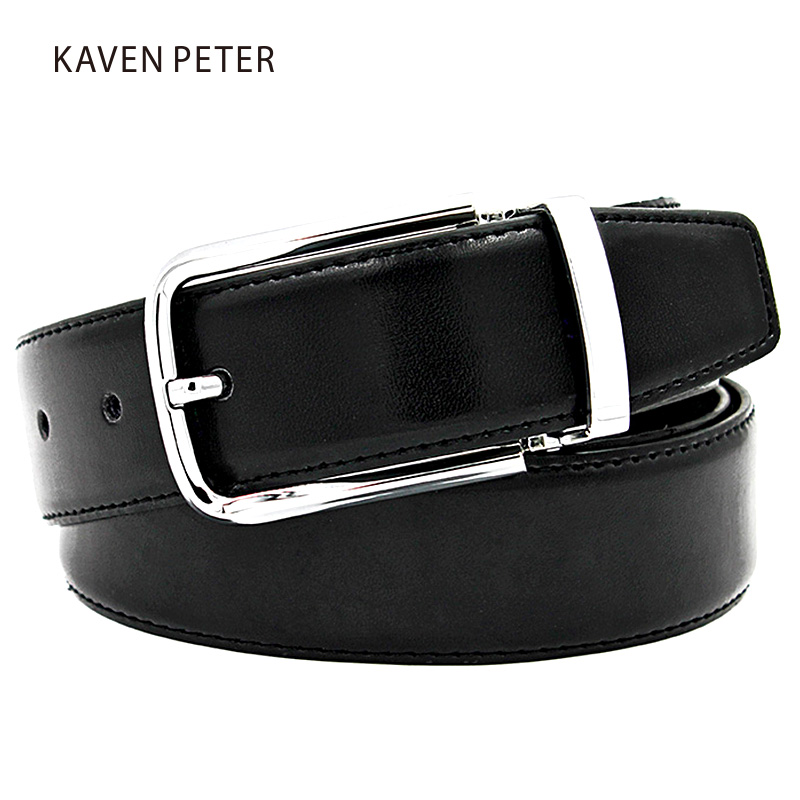 Famous Brand Herre Belter Luxury Pin Buckle Ekte Leather Håndlaget Belt Buckles For Menn Cinturon Cinto Masculino Fire Farger