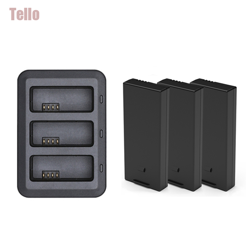 Original Tello dji Accessories Tello Battery + Drone Tello Charger Batteries Charging For dji hub Tello flight Battery Accessory tello charger 4in1 multi battery charging hub for dji tello 1100mah drone intelligent flight battery quick charging us eu plug