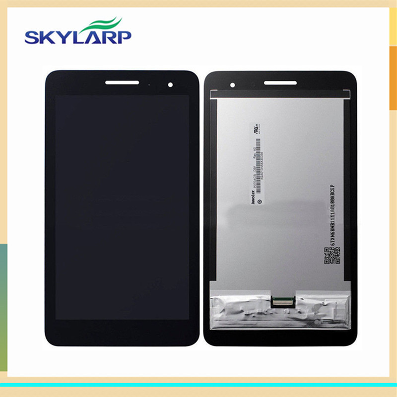 ФОТО Black LCD for Huawei MediaPad T1 7.0 3G (with touchscreen) for Tablet PC LCD screen display panel glass free shipping