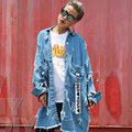 BringBring 2017 Spring and Autumn Ripped Denim Women Jacket BF Style Hole Jackets Long Sleeve Retro Women Clothes 1799