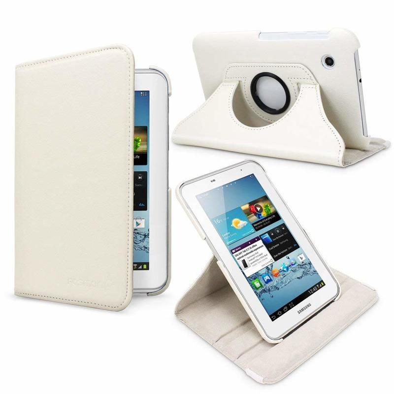 For Samsung Galaxy Tab 2 7.0 Case 360 Rotation Flip PU Stand Case Cover For Samsung Galaxy Tab2 7.0 P3100 P3113 Tablet Funda