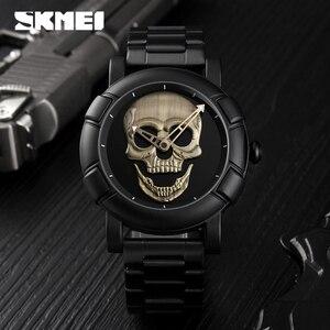 Image 5 - SKMEI Skullนาฬิกาผู้ชายนาฬิกาแบรนด์หรูนาฬิกาควอตซ์กีฬานาฬิกากันน้ำสแตนเลสชายWristatch Reloj Militarนาฬิกา 9178