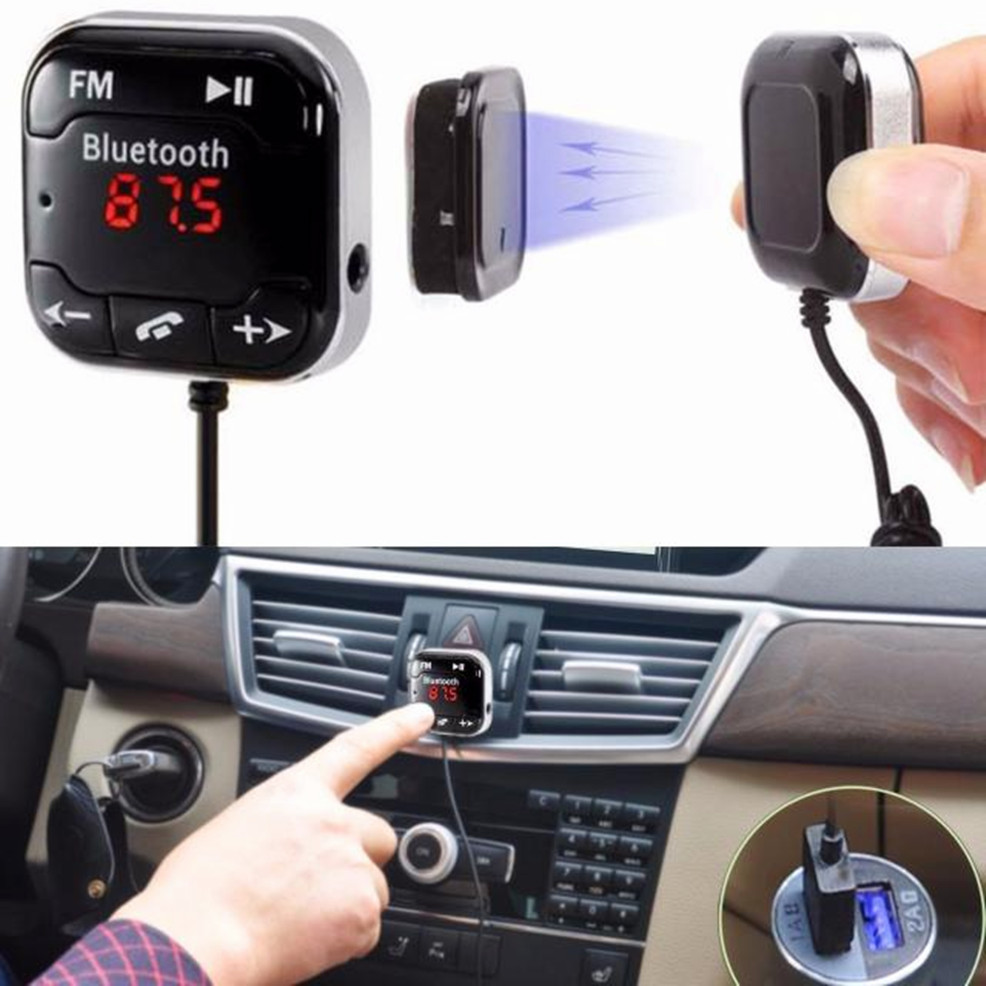 2017 MP3 Car Kit Wireless Bluetooth FM Transmitter Modulator MP3 Player USB SD LCD Remote Hands free Music Player Dropshipping fm модулятор lcd sd usb mp3