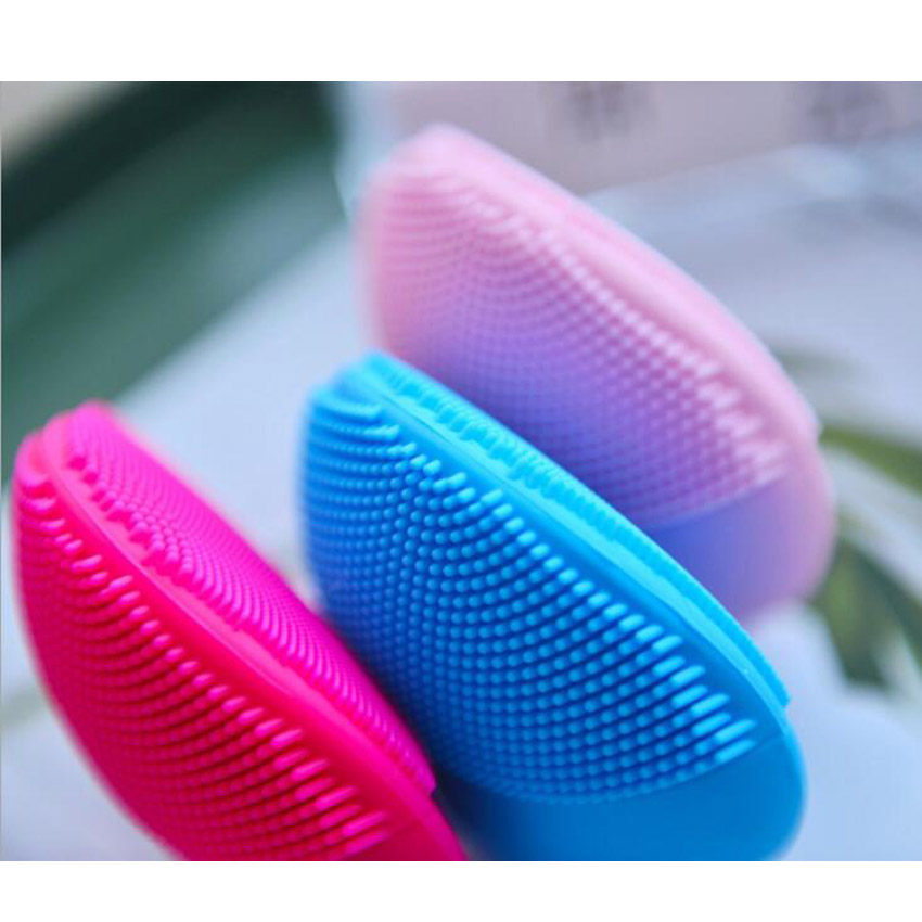 купить New Ultrasonic Electric Facial Cleansing Brush Vibration Skin Remove Blackhead Pore Cleanser Waterproof Silicone Face Massager онлайн