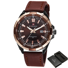 Fashion Casual Brand Waterproof Quartz Watch Men Military Leather Sports Watch