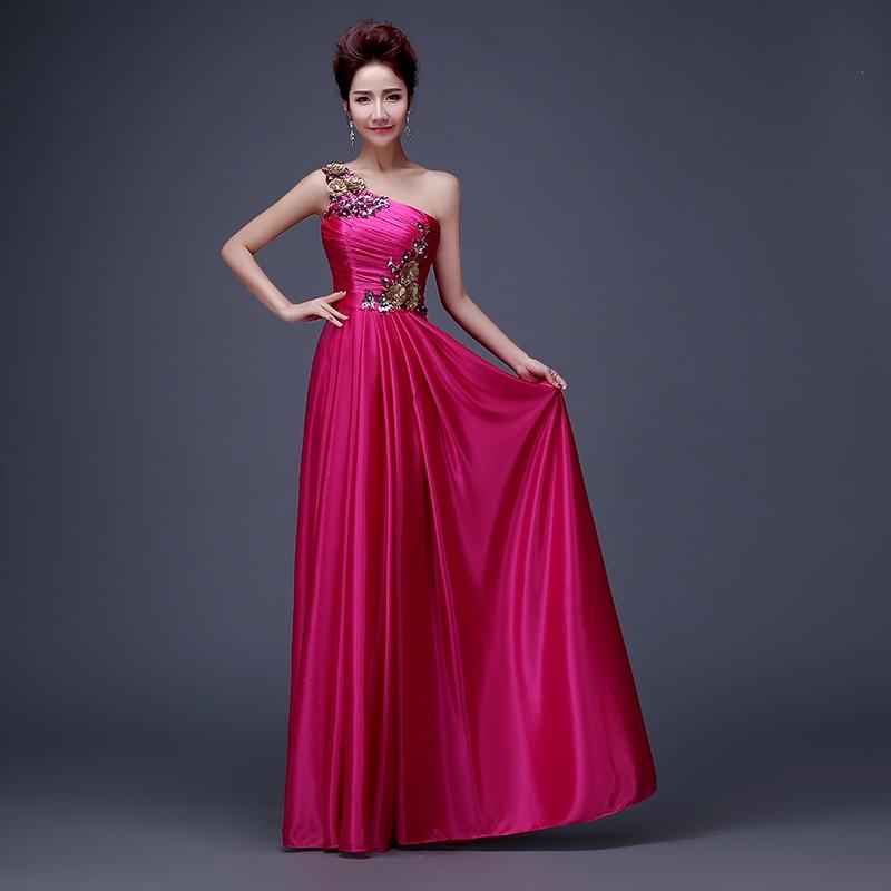 Fantástico El Vestido De La Dama De Honor Del Hombro Motivo ...