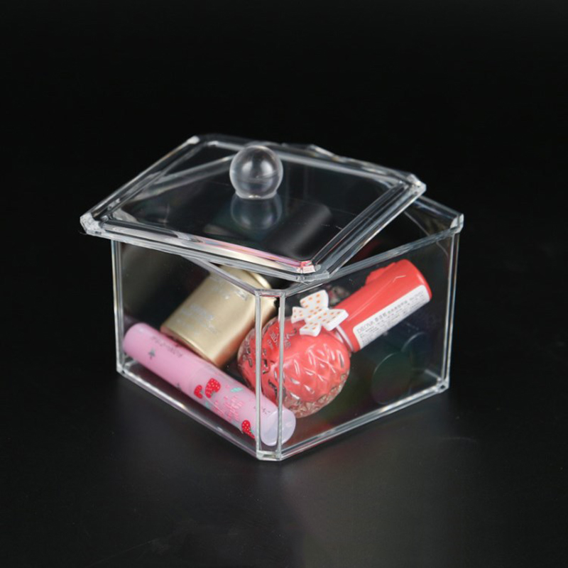 Nail Storage Case Transparent Makeup Cotton Nail Polish Jewellery Box Container Manicure Nail Desktop Tool