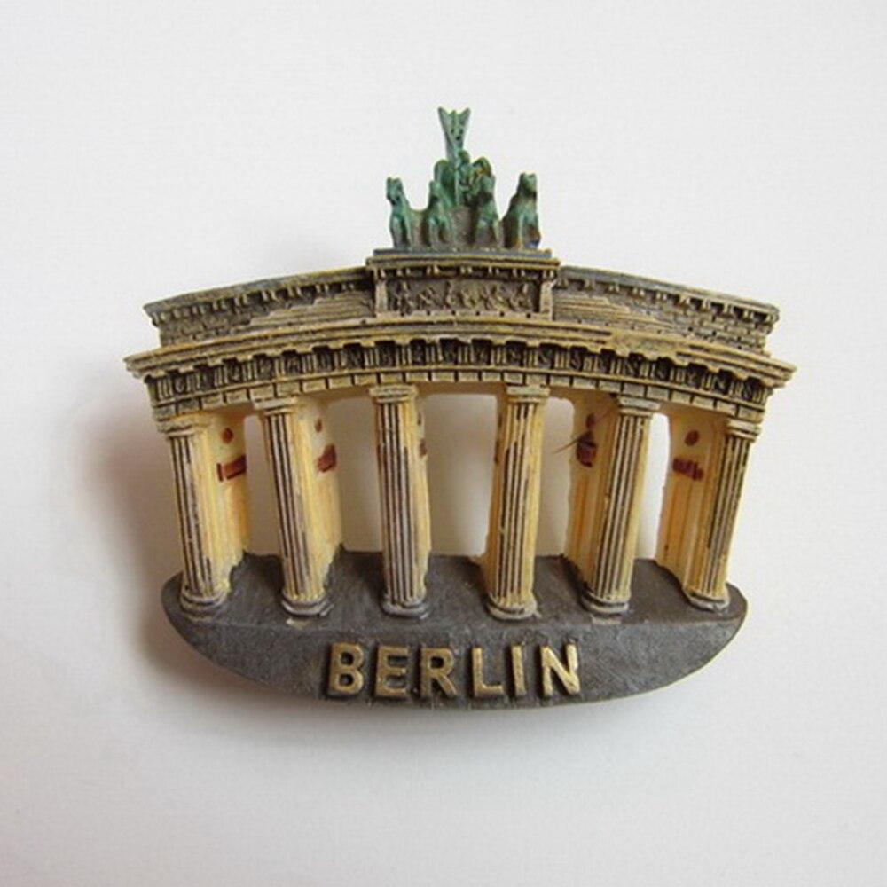 Allemagne Berlin Brandenburger Tor En Forme de Réfrigérateur Aimants Monde Paysage Touristique Souvenirs Magnétique Autocollants Décor À La Maison Du Tourisme Cadeau