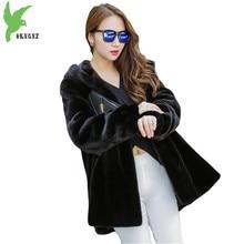 女性冬フェイクミンクの毛皮ジャケットコートブティック無地フード付き毛皮の上着ファッション暖かいコートプラスサイズのジャケットOKXGNZ1136