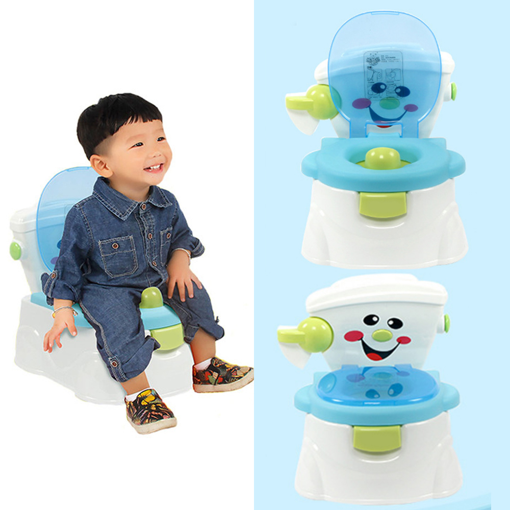 Toilet Baby Potty Training Cute Cartoon Baby Toilet Portable Potty Potties Seat Folded Toddler Infants Trainer Chair For Kids penguin style baby potty toilet trainer