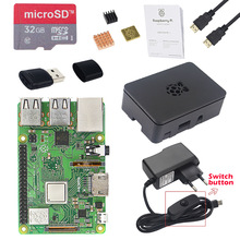 Original Raspberry Pi 3 Model B+ kit + Case + 2.5A Power Supply + 32G SD Card + HDMI Cable + Heat Sink for Raspberry Pi 3 Plus