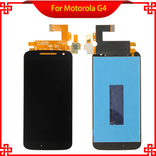 For Motorola MOTO G4 XT1625 XT1622 LCD Display with Touch Screen Digitizer Assembly Original Replacement Black White original lcd screen display with touch digitizer and front frame assembly for motorola moto g4 plus shipped by dhl ems