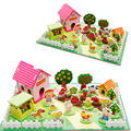 Happy Farm 3d Wooden Puzzles Kids Toys Animal Zoo  Family Play House Game Toy For Children