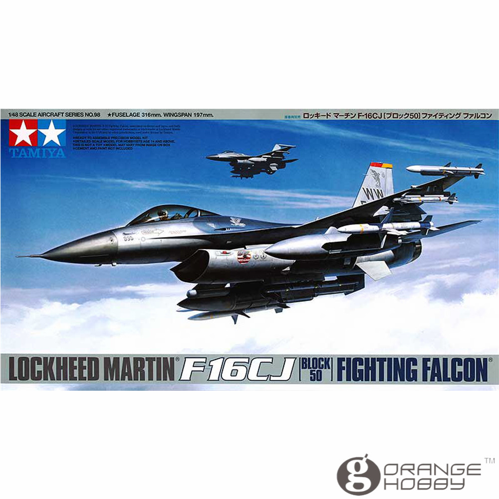 OHS Tamiya 61098 1/48 F16CJ Block50 Fighting Falcon LM Assembly Airforce Model Building Kits G цена