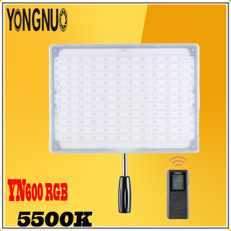 <font><b>YONGNUO</b></font> <font><b>YN600</b></font> RGB Professional 5500K+RGB Adjustable Brightness CRI>95 with Remote Controller Studio Lighting Photographic Light image