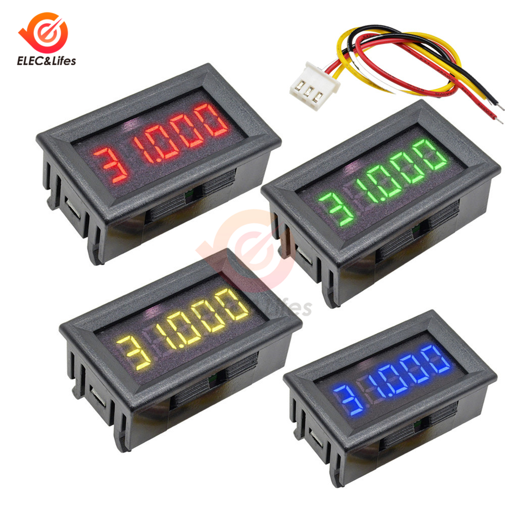 3 Wire DC 0-33.000V 0-33V Digital Voltmeter 5-digits Bit High Precision Voltage Meter Tester Red/Blue/Green/Yellow