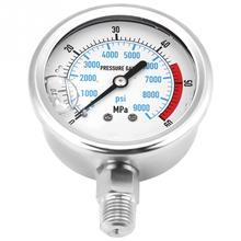 Нержавеющая сталь двойной масштаб манометр для воды гидравлический манометр 60MPA/9000PSI база вход NPT1/4 измерительный инструмент