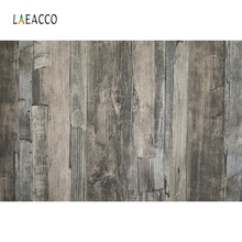 Laeacco Gray Wooden Board Baby Food Cake Portrait Photography Backgrounds Customized Photographic Backdrops for Photo Studio
