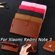 Case For Xiaomi Redmi Note 3 Pro Wallet PU Leather Cover For