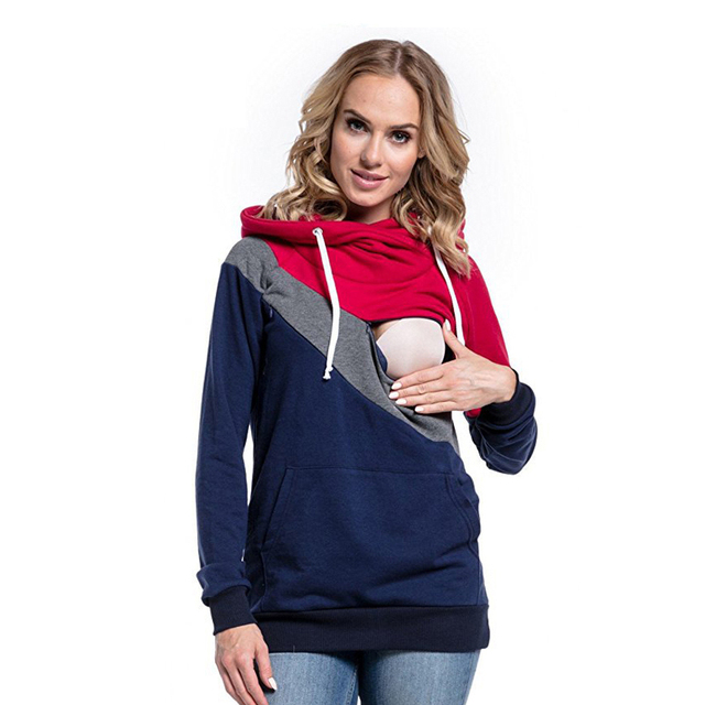 5a43941c523a8 Spring Autumn Casual Maternity Clothes Pregnancy Clothing Pullover Hooded Nursing  Tops Breastfeeding Hoodie for Pregnant Women
