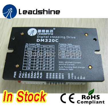 Leadshine Digital Stepper Drive DM320C 2 Phase Digital Stepper Drive; Max 30 VDC and 2.0A 2pcs lot leadshine 2 phase high precision stepper drive am882