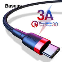 Baseus USB Type C Cable for Samsung S8 Note 8 Quick Charge 3.0 USB C Cable for Redmi K20 Pro Cable Type-C Fast Charge USB C Wire