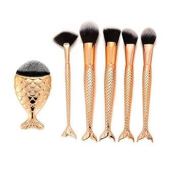 6PCS Make Up Makeup Brushes Set Powder Foundation Make Up Kits Foundation Eyebrow Eyeliner Blush Cosmetic Concealer Brushes #0.7