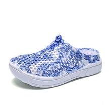 Summer Men Lovers Slippers Shoes Ladies Flower Print Casual High Quality EVA Lightweight Cushioning Beach Sandals цена 2017