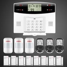 99 Беспроводных 4 Проводных зон Цветной жк-Дисплей GSM PSTN Телефонной Линии Мониторинга Сигнализации Системы Безопасности Для Дома Дистанционного Управления